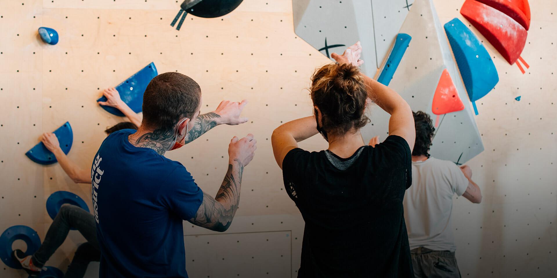 Coaching, entraînements d'escalade à Climbing Ditsrict