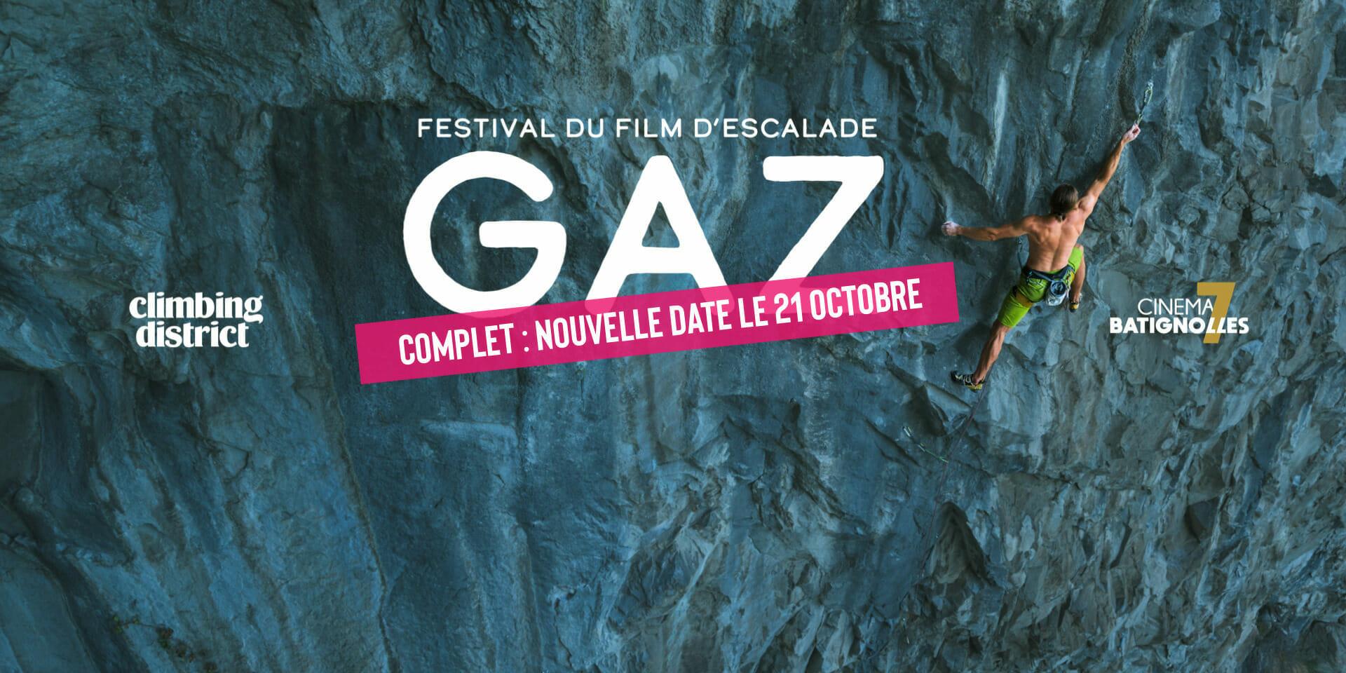 Nouvelle date projection festival Gaz ciné-grimpe - Climbing District